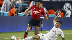 Alexis Sanchez Javier Sanchez Manchester United Real Madrid ICC 2018