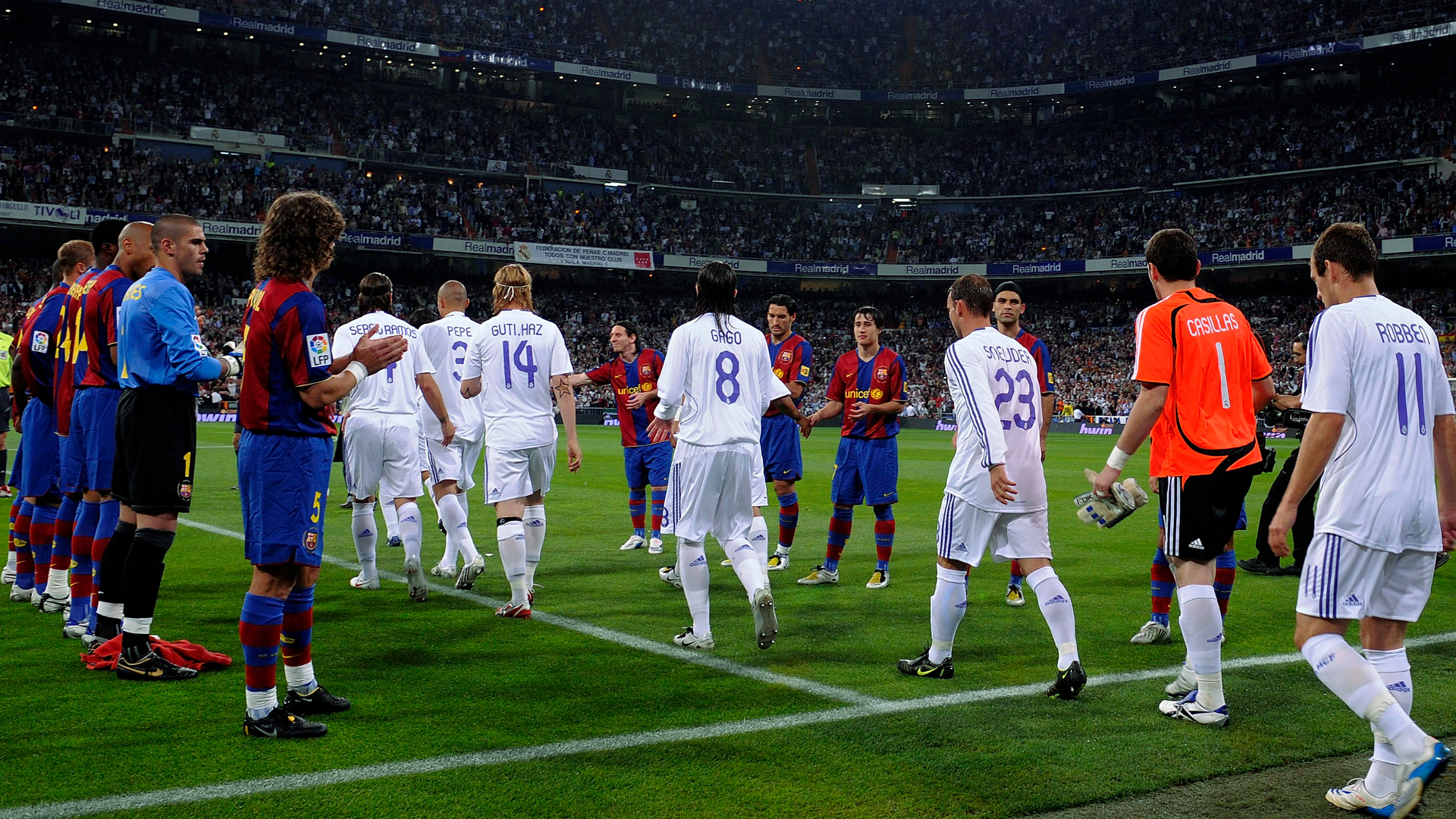 Barcelona Real Madrid Pasillo