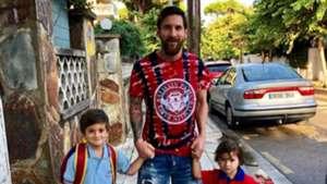 Lionel Messi Familia Thiago Mateo 06092018