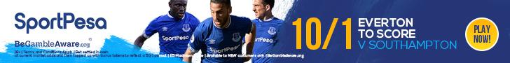 Everton 10/1 v Southampton SportPesa offer
