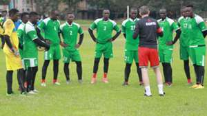 Harambee Stars in opening training session.