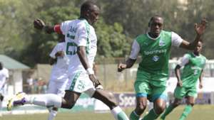 Alfred Onyango of Sony Sugar v Meddie Kagere of Gor Mahia