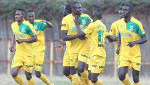 Mathare United celebrates.