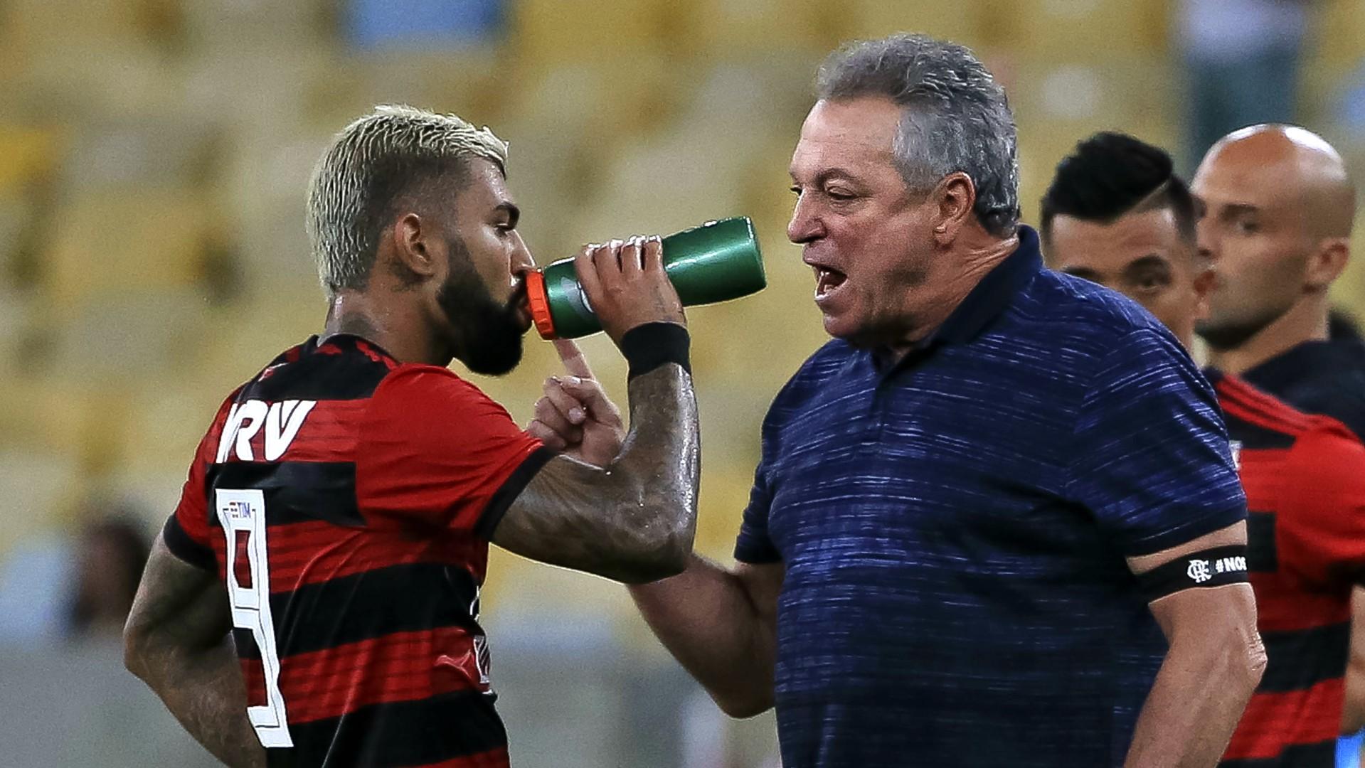 Abel Braga Gabigol Flamengo Fluminense 14022019