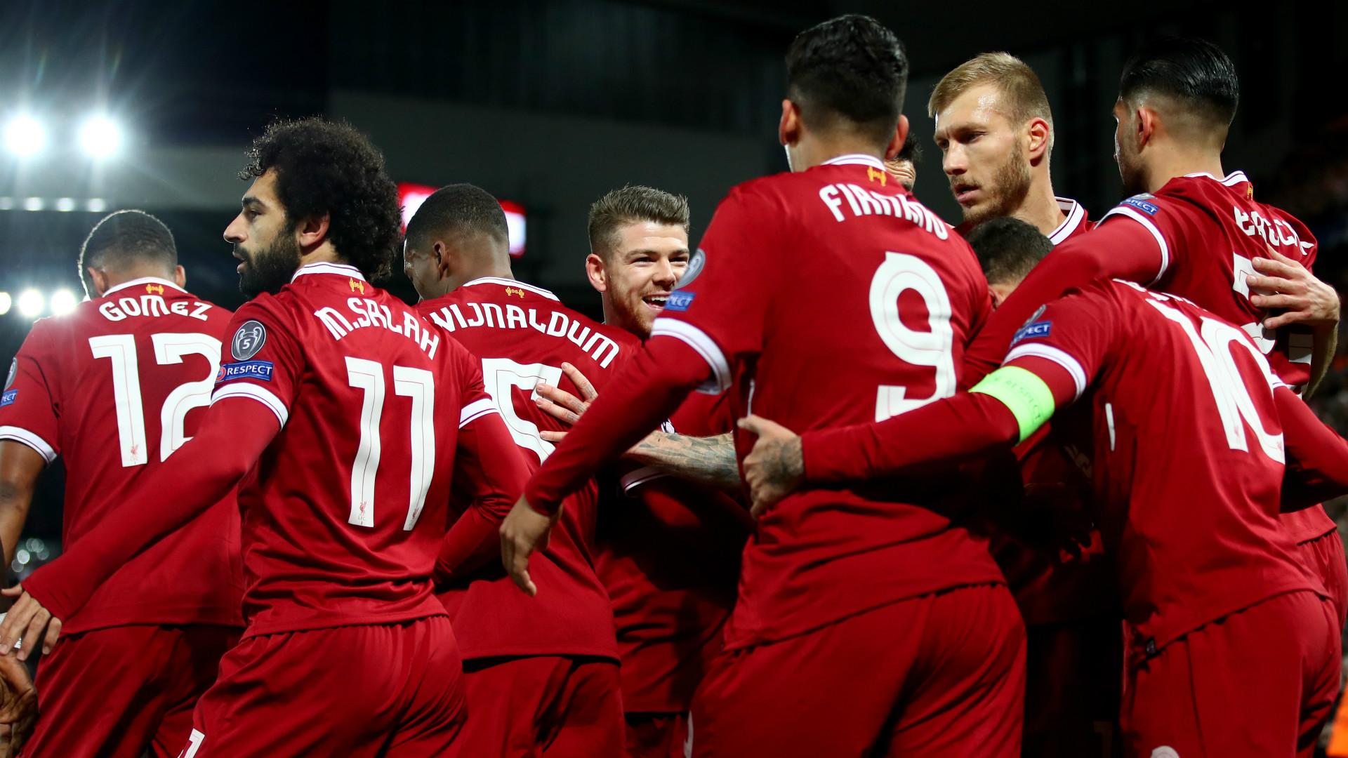 Liverpool celebrate v Spartak