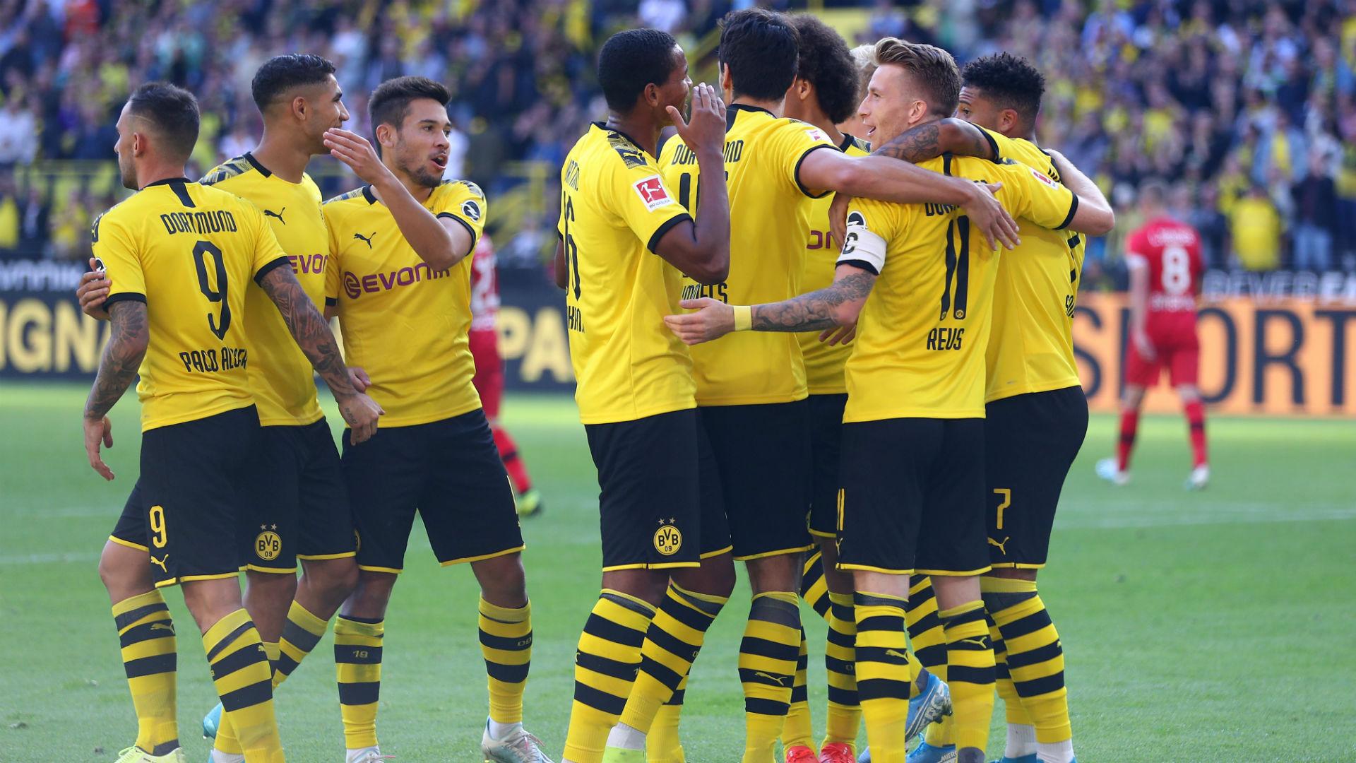 Borussia Dortmund v Bayer Leverkusen Goal Celebration 09142019