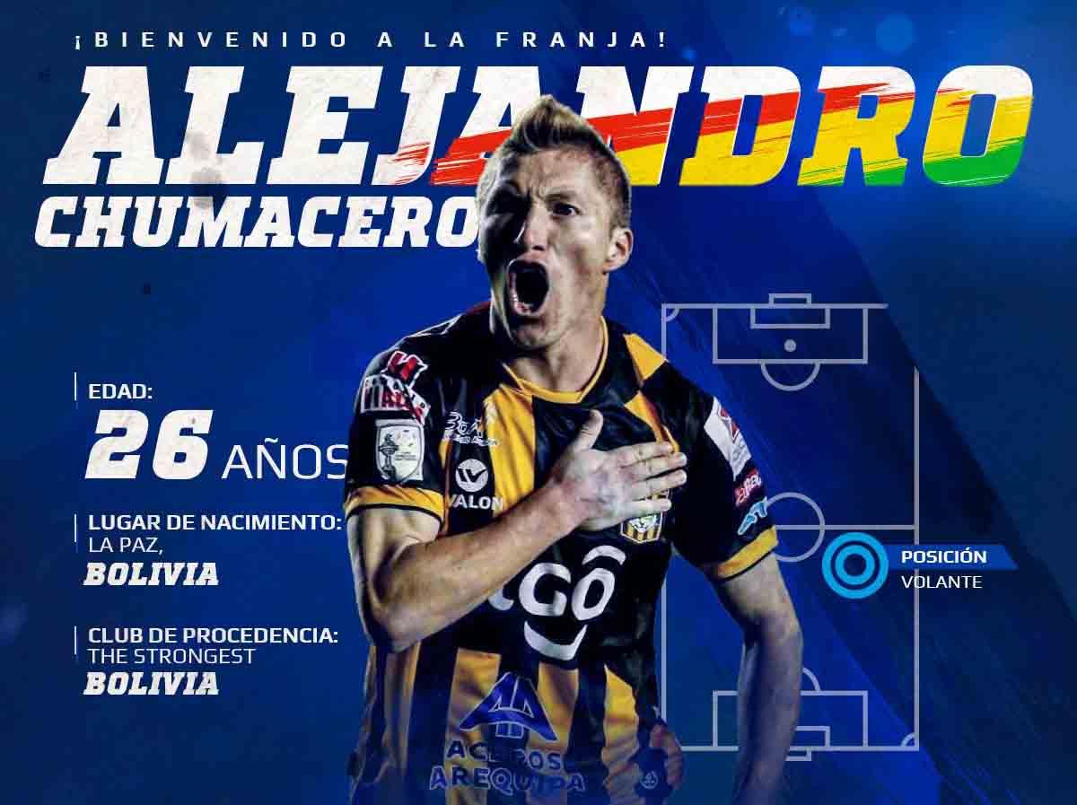 Puebla ficha al boliviano Alejandro Chumacero