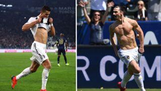 Ronaldo/Ibrahimovic split
