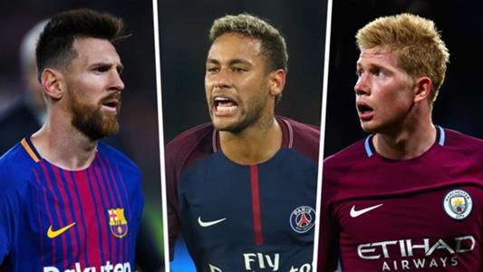Lionel Messi Neymar Kevin De Bruyne GFX