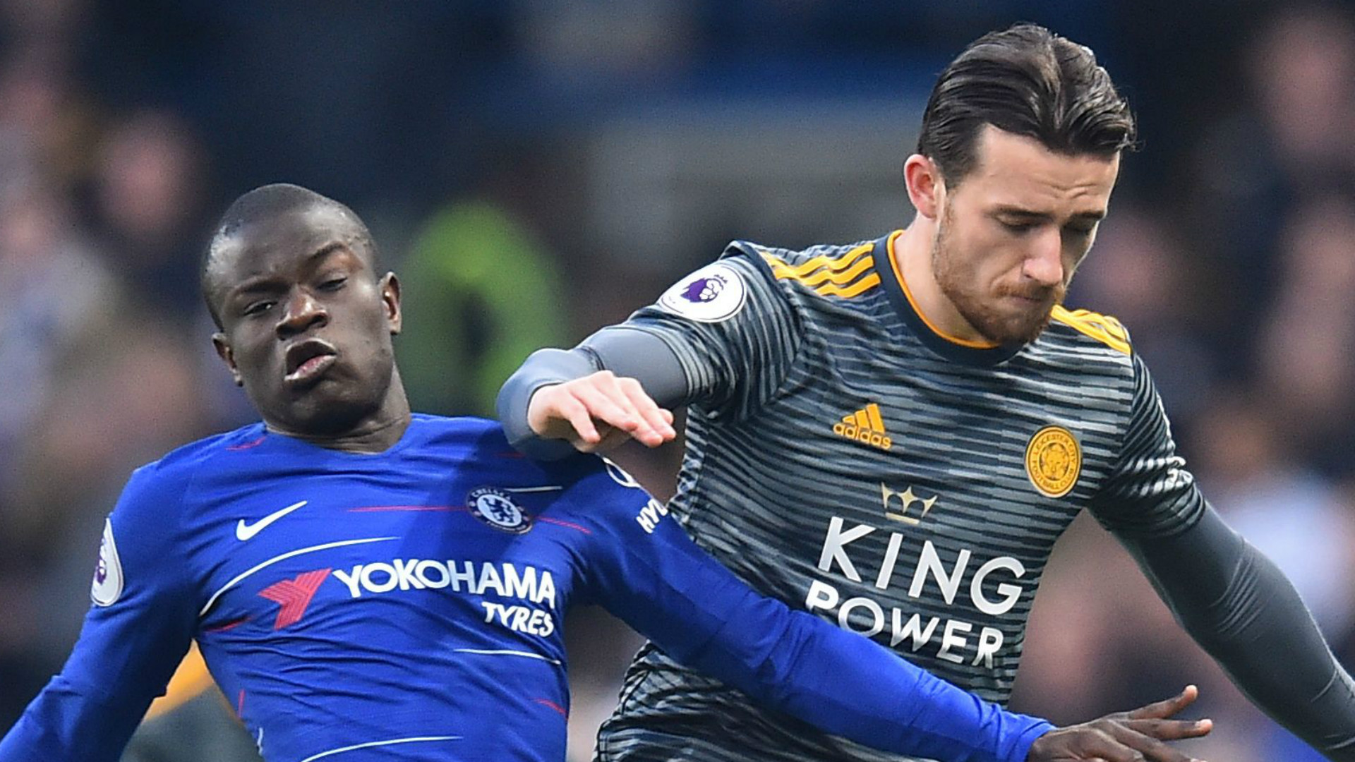 N'Golo Kante Ben Chilwell Chelsea Leicester City 2018-19