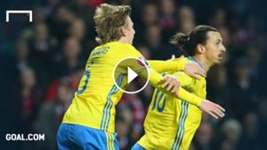GFX Emil Forsberg Zlatan Ibrahimovic Sweden