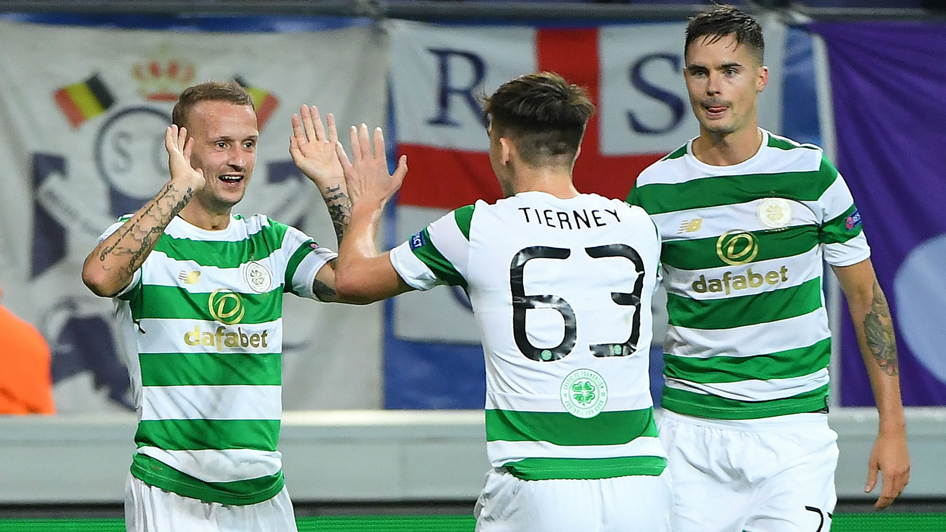 Leigh Griffiths Kieran Tierney Celtic
