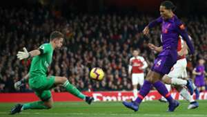 BERND LENO ARSENAL VIRGIL VAN DIJK LIVERPOOL PREMIER LEAGUE 03112018