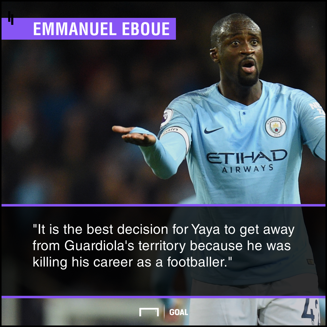 Yaya Toure Pep Guardiola killing career Emmanuel Eboue
