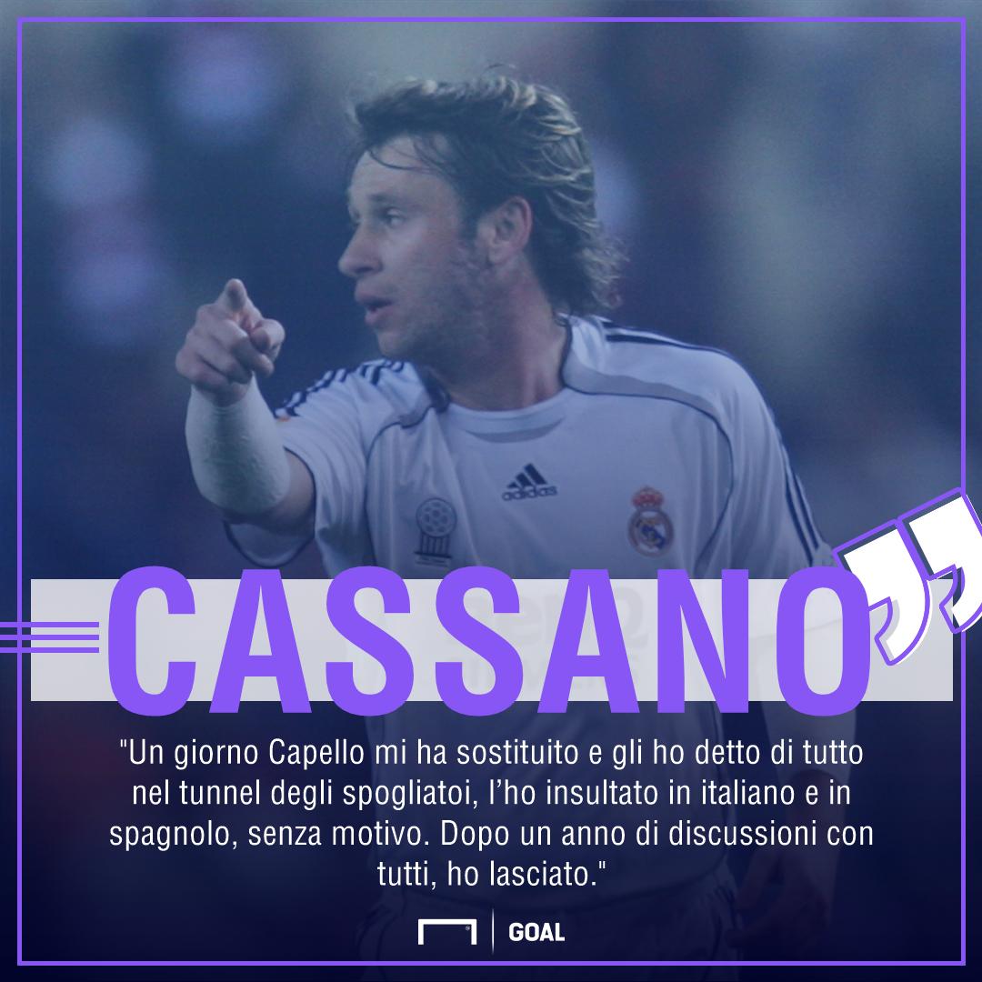 Cassano: 'Facevo la fame, mi è mancato un padre. Gli errori...'