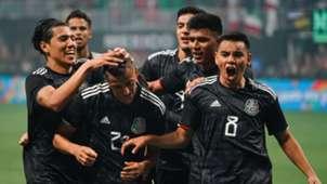 Mexico national team celebrating