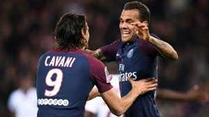 Daniel Alves Edinson Cavani PSG Nice Ligue 1 27102017
