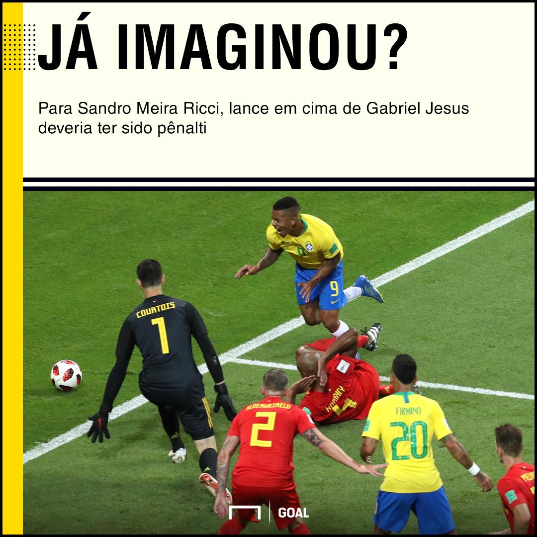 GFX Gabriel Jesus Kompany Brasil Bélgica Copa do Mundo 26 07 2018