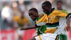 Edzai Zasinauyo of Zimbabwe & South Africa's Helman Mkhalele