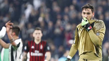 Gianluigi Donnarumma kiss AC Milan Juventus