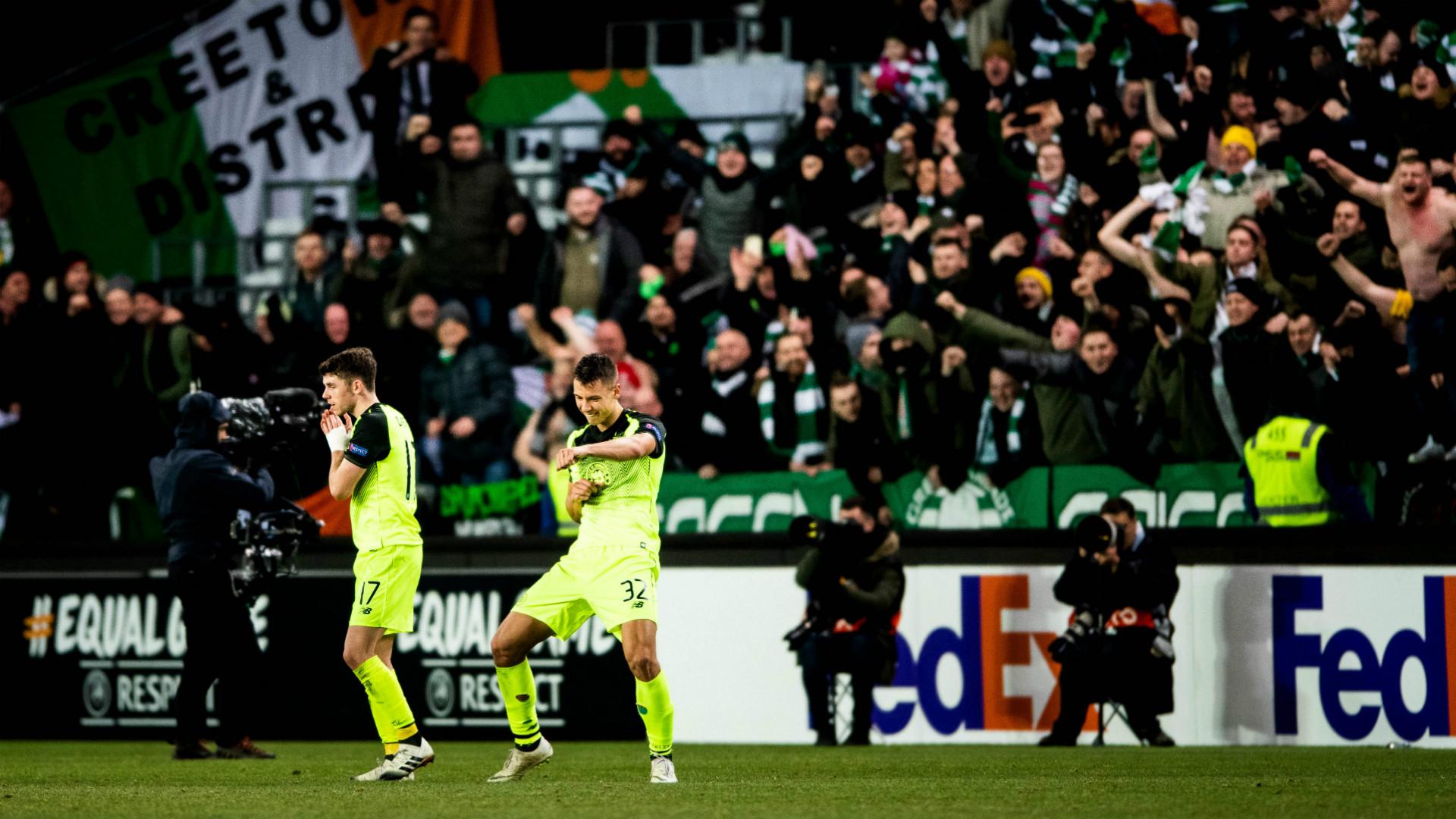 Ryan Christie Filip Benkovic Celtic 2018 Getty