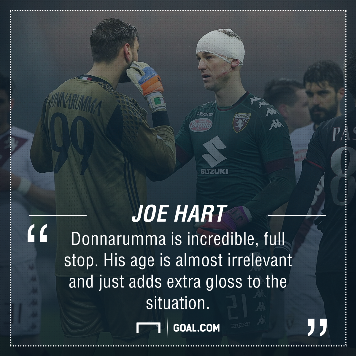 Gianluigi Donnarumma Joe Hart PS
