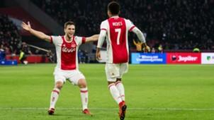 Joël Veltman, David Neres, Ajax, Eredivisie, 24122017