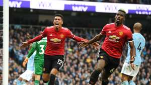 Chris Smalling Paul Pogba Manchester City Manchester United Premier League