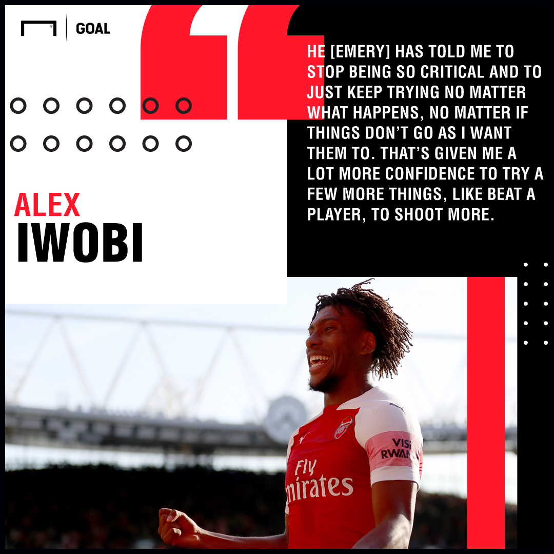 Unai Emery better than Arsene Wenger for Alex Iwobi