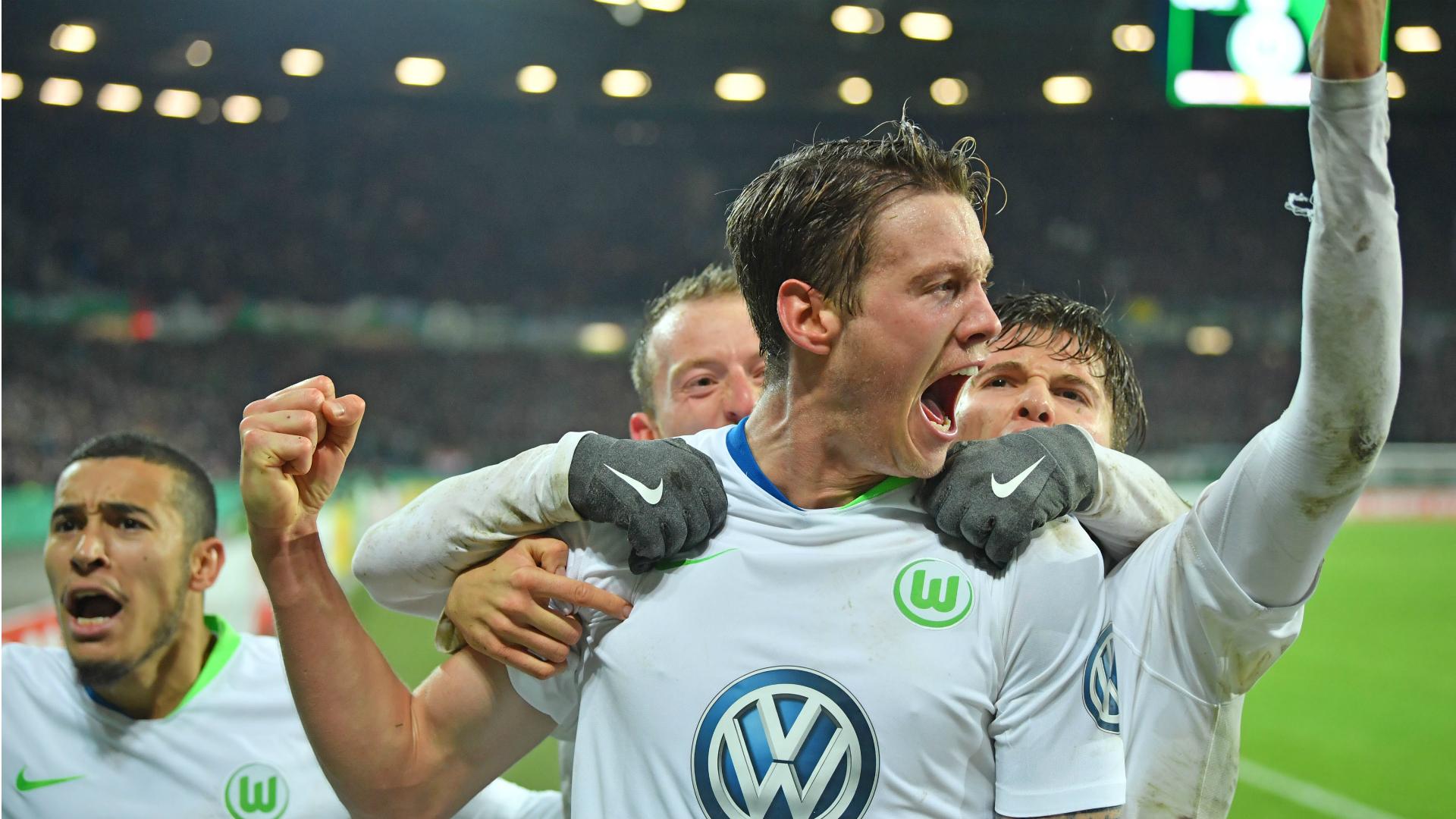 Wout Weghorst, Wolfsburg, DFB Pokal 10302018