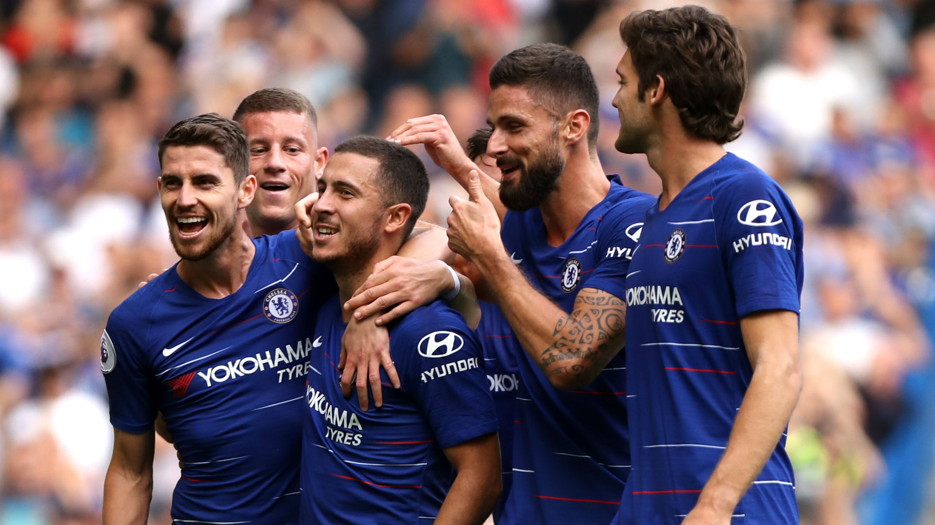 giroud the worlds best target man � hazard heaps praise