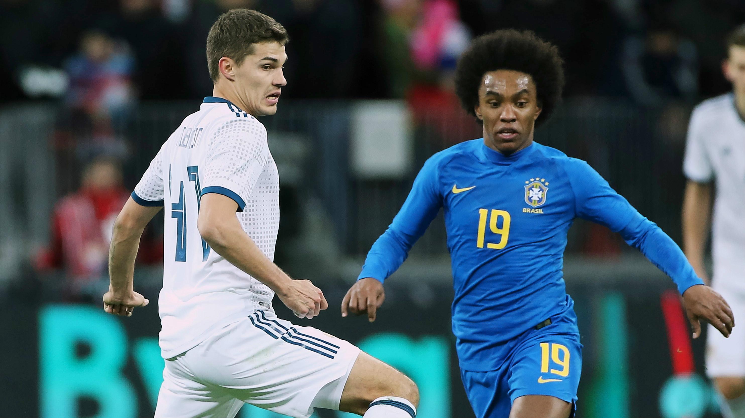 Willian - Brasil x Russia - 23/03/2018