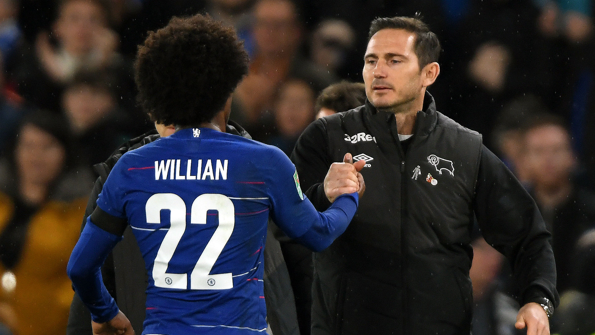 Frank Lampard Willian Chelsea Derby County Carabao Cup 31102018