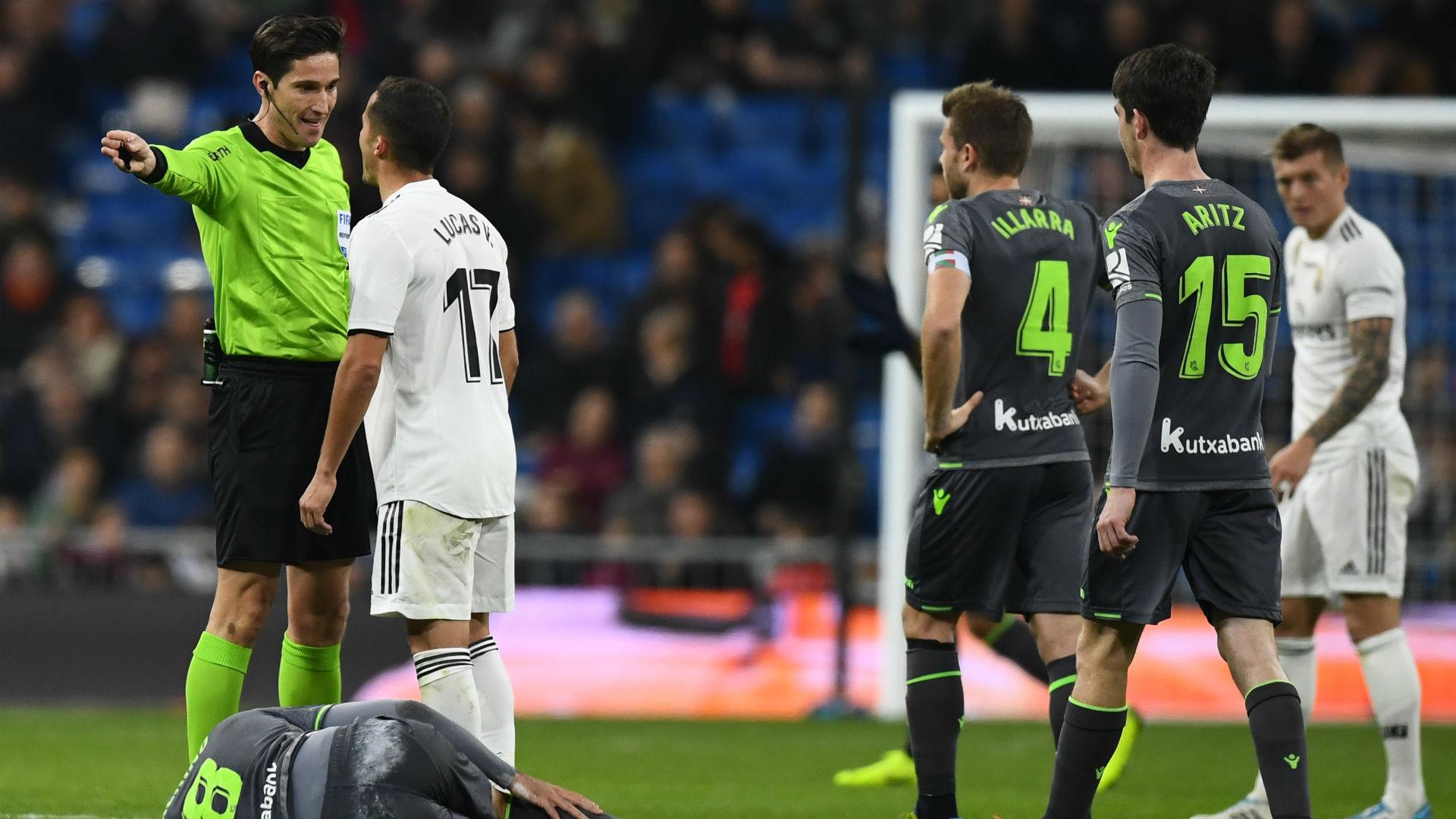 ucas Vazquez red card Real Madrid Real Sociedad 06012019