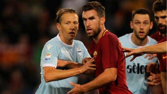 Strootman Lucas Leiva Roma Lazio Serie A