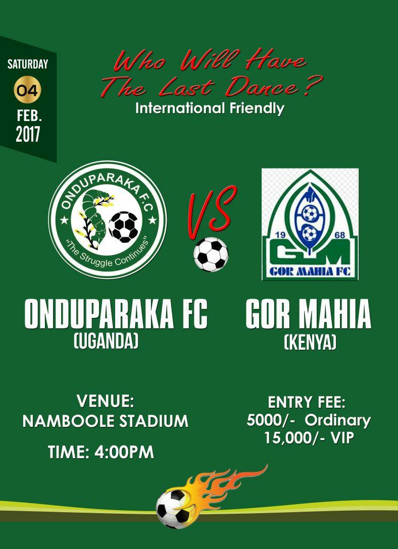 Onduparaka v Gor Mahia banner