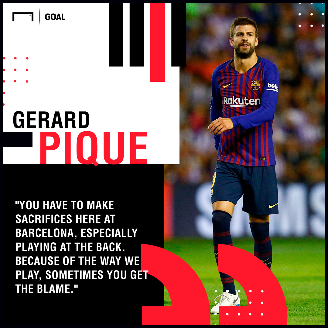 Gerard Pique Barcelona blame PS