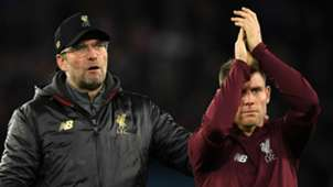 Jurgen Klopp James Milner Liverpool 2018-19