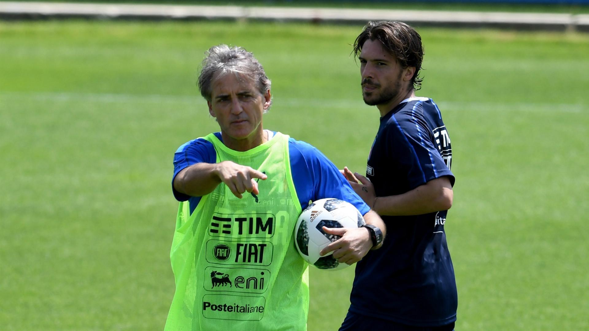 Roberto Mancini Simone Verdi Italy 24052018