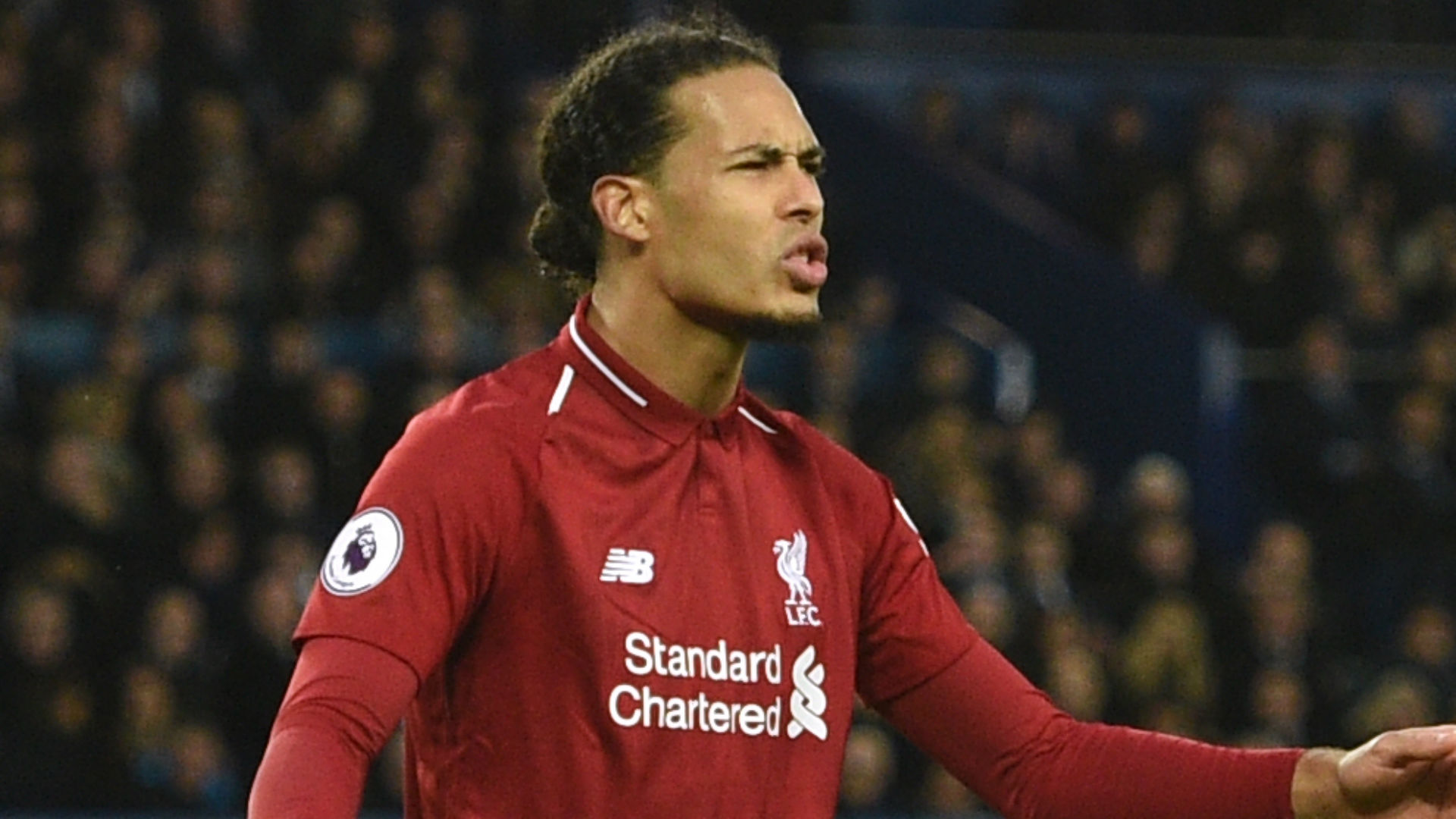 Virgil van Dijk Liverpool Everton