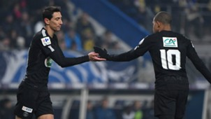 Angel Di Maria Kylian Mbappe PSG Paris Saint-Germain