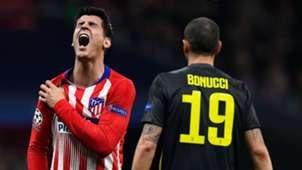 Morata Chiellini Atlético de Madrid Juventus Champions League