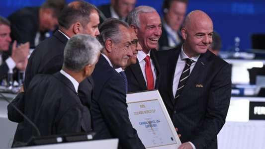 Carlos Cordeiro Decio de Maria Serrano Steve Reed Gianni Infantino United Bid World Cup 2026