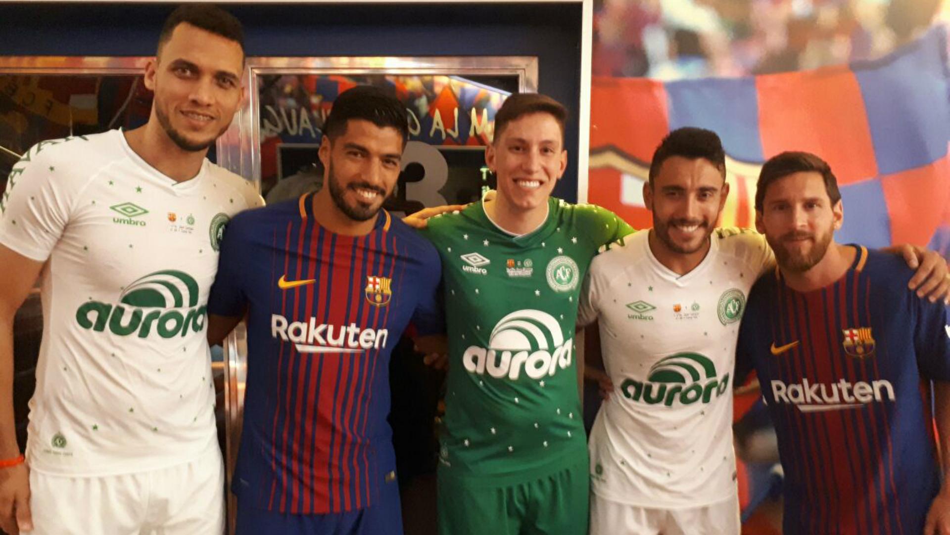 Lionel Messi Luis Suárez Alan Ruschel Neto Jackson Follmann Barcelona Chapecoense