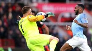 Artur Boruc Raheem Sterling Bournemouth Manchester City