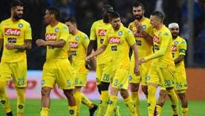 Napoli celebrating vs Sampdoria
