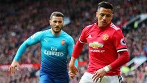 Sead Kolasinac Alexis Sanchez Arsenal Man Utd