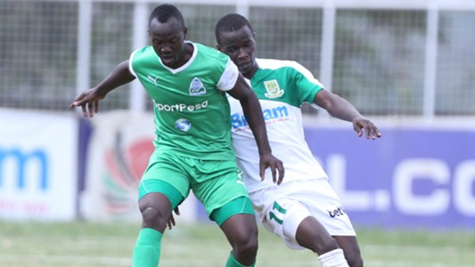 Gor Mahia defender Godfrey Walusimbi v Mathare United
