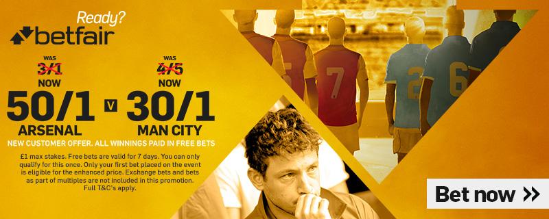 GFX Arsenal Man City enhanced betting