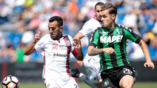 Marco Sau, Pol Lirola, Sassuolo, Cagliari, Serie A, 05212017